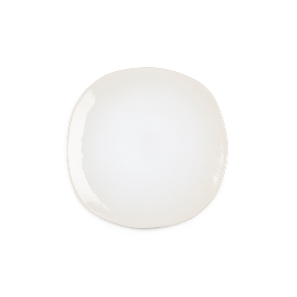 ORGANIC SALAD PLATE IN WHITE