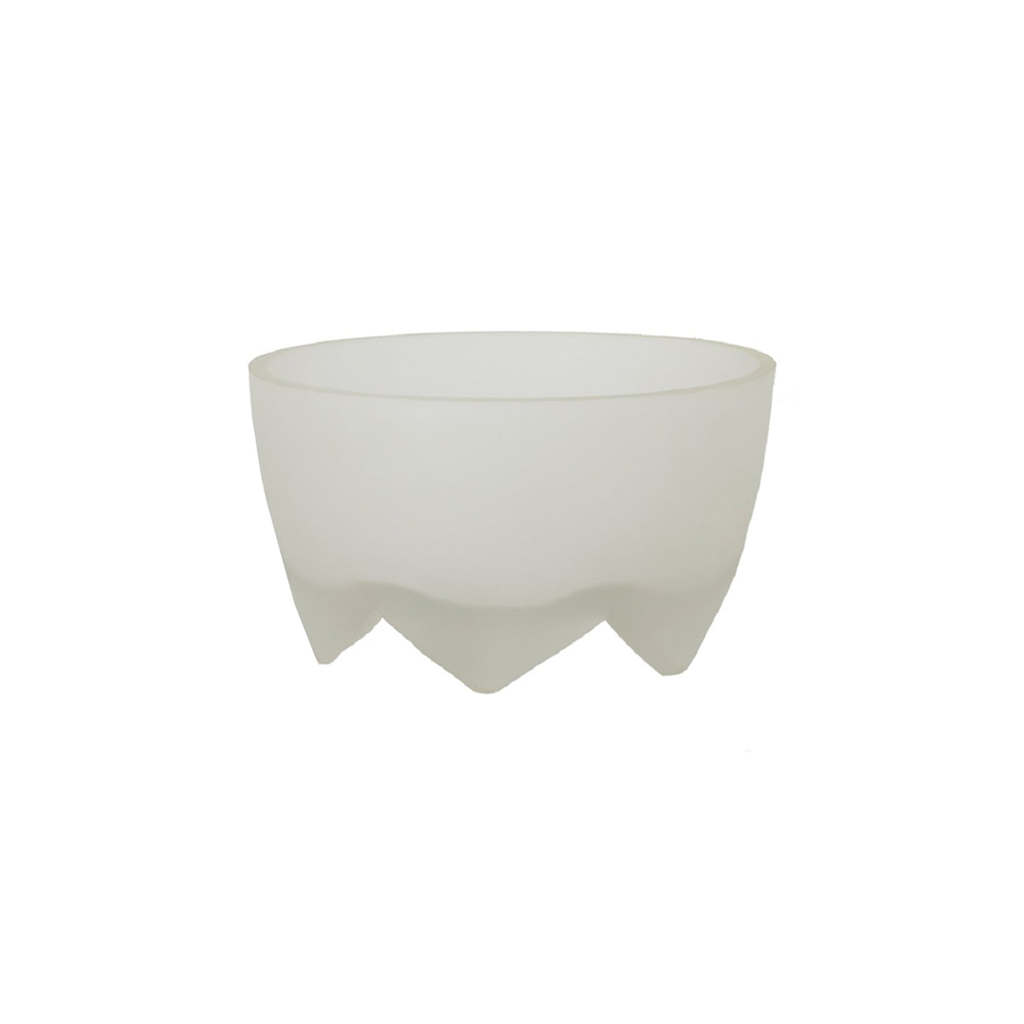 FOOTED BOWL IN CLEAR FROSTED GLASS