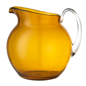 PALLA TRANSPARENT AMBER PITCHER