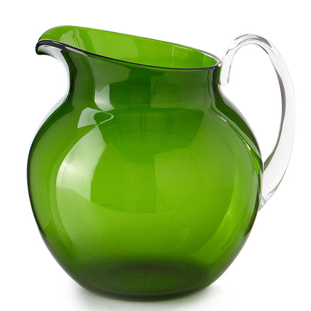 PALLA TRANSPARENT PITCHER IN GREEN