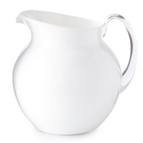 PALLA TRANSPARENT WHITE PITCHER