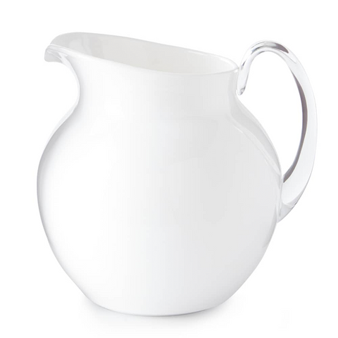 PALLA GLAZED PITCHER IN WHITE
