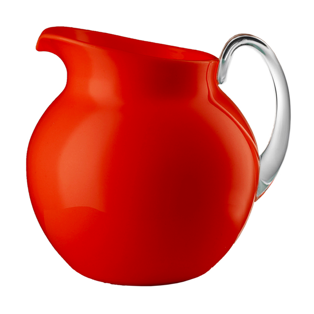 PALLA GLAZED PITCHER IN RED