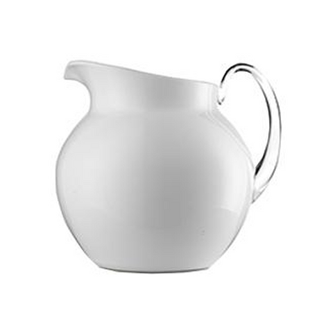 PALLINA GLAZED WHITE PITCHER