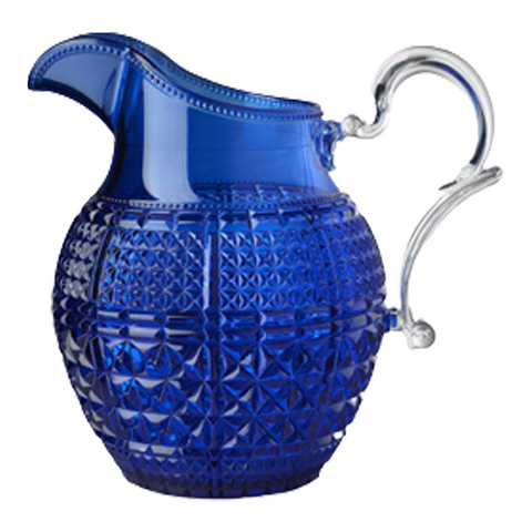 HALINA PITCHER IN COBALT