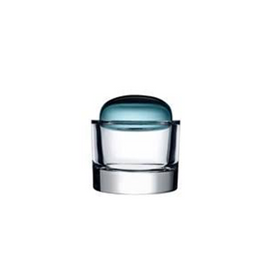 ECRIN SMALL LIDDED GLASS BOX IN PETROL