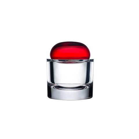 ECRIN SMALL LIDDED GLASS BOX IN RED