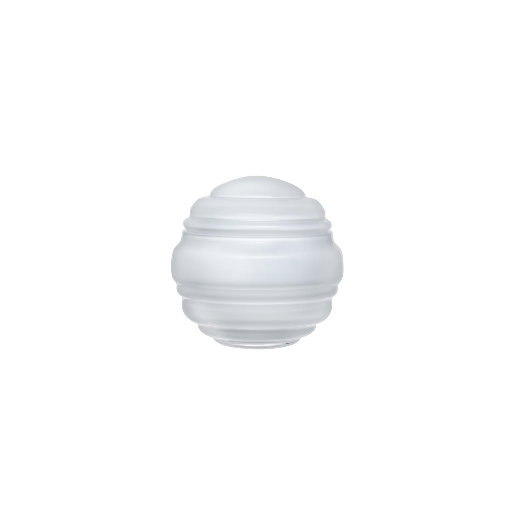 NEST SMALL ROUND GLASS BOX IN OPAL WHITE