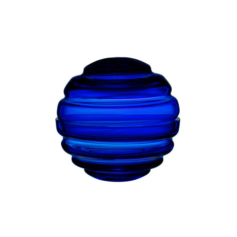 NEST LARGE ROUND GLASS BOX IN COBALT