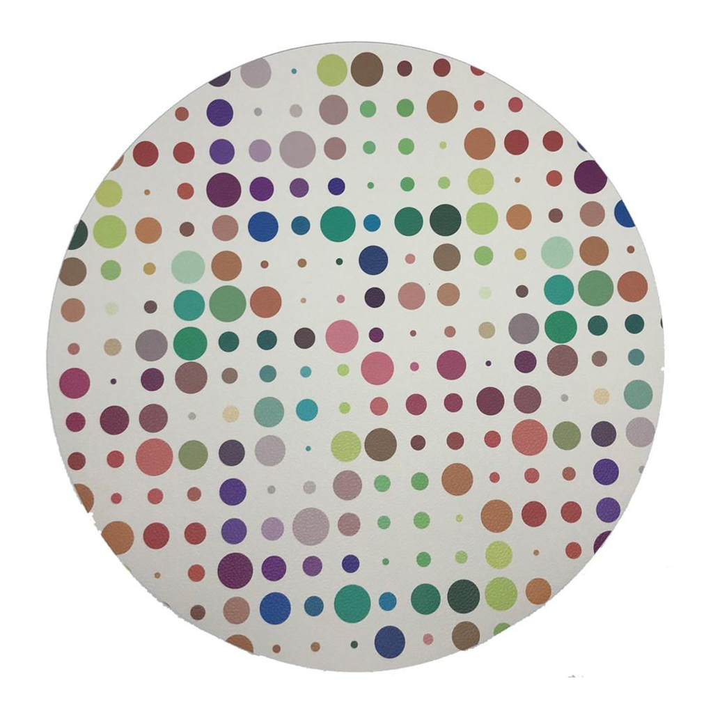 PEBBLE ROUND PLACEMAT IN MOD CONFETTI ANDRE