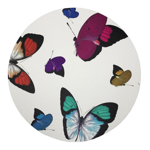 PEBBLE ROUND PLACEMAT IN BUTTERFLIES