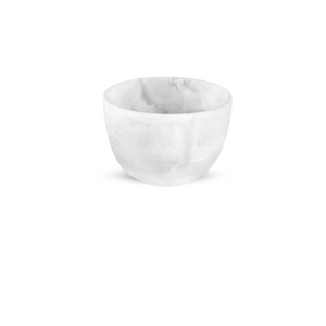 SMALL DEEP BOWL IN WHITE SWIRL