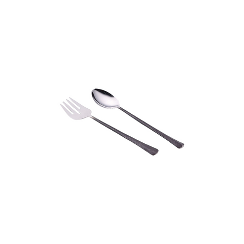 Salad Servers with Blackened Handles
