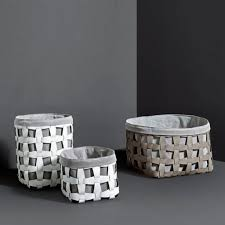 PINETTI LARGE HOOK BASKET WITH GREY LINER