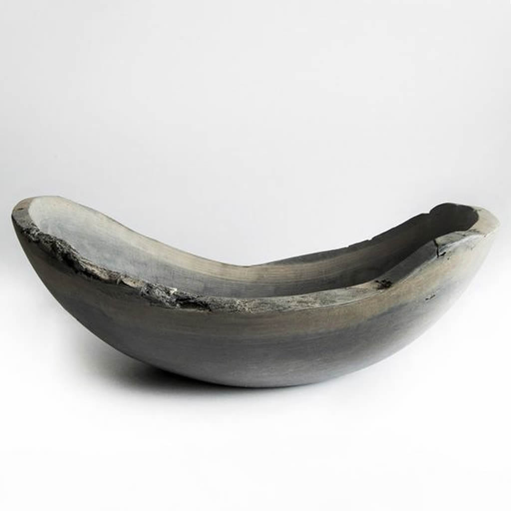 Oval Wood Bowl in Driftwood