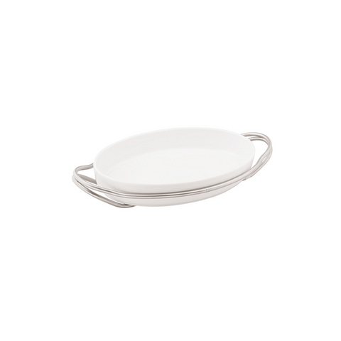 LIVING OVAL CASSEROLE WITH ANTICO FINISH