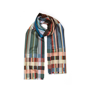 Sandro Deep Sea Silk Scarf