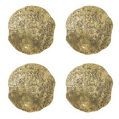 TIMBER COASTERS IN GOLD - Set of 4