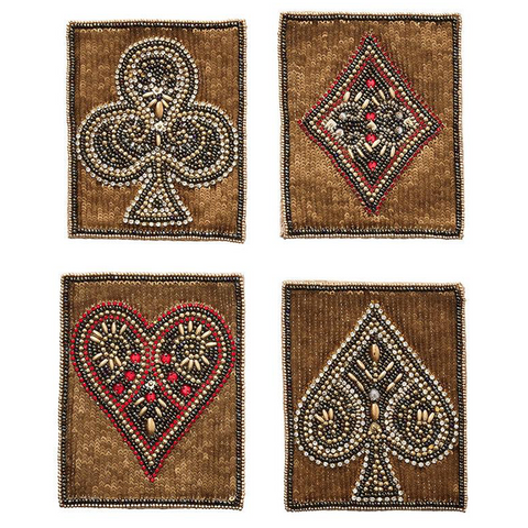 POKER COASTERS - Set of 4