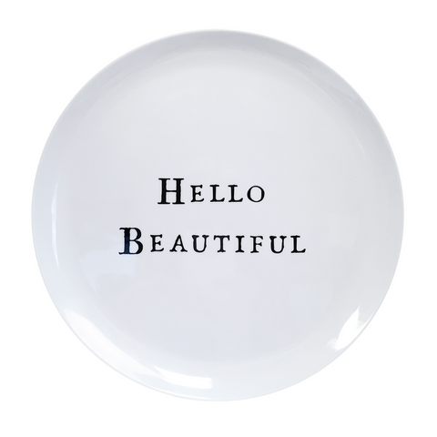 HELLO PLATES, ASSORTED SET OF 6