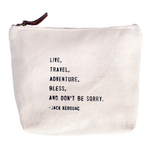 LIVE, TRAVEL  Canvas Zip Bag