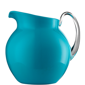 PALLA GLAZED PITCHER IN TURQUOISE