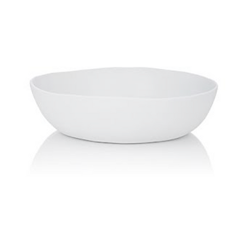 TINA FREY WIDE SALAD BOWL IN WHITE