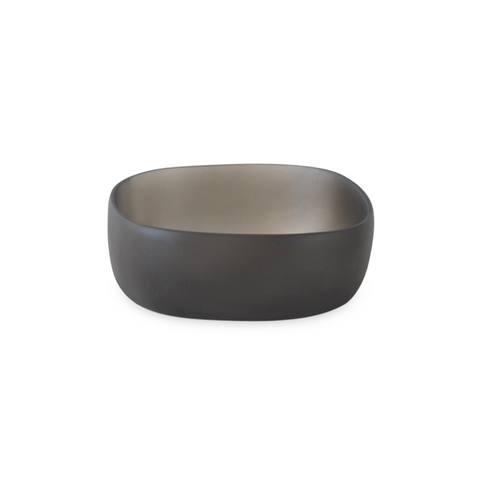 TINA FREY SMALL SQUARE BOWL IN DARK GREY