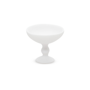 TINA FREY SMALL PEDESTAL BOWL IN WHITE