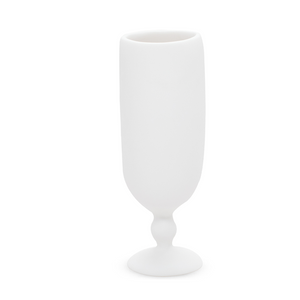 TINA FREY PEDESTAL LARGE VASE IN WHITE