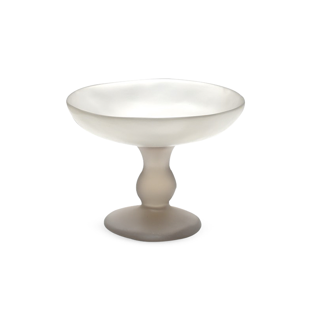 TINA FREY SMALL PEDESTAL BOWL IN FOG