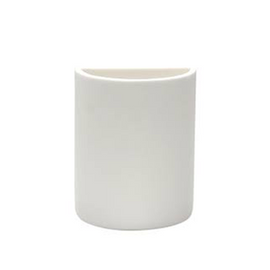TINA FREY DEMI LUNE VASE IN WHITE