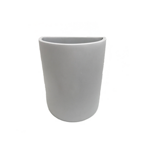 TINA FREY DEMI LUNE VASE IN CEMENT