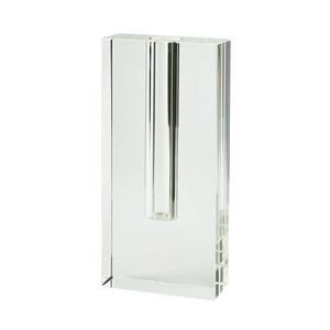 TALL CRYSTAL RECTANGLE VASE