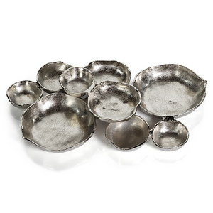 CLUSTER BOWL WITH NINE PARTS IN NICKEL