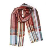 Eyck Silk Linen Red Scarf