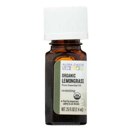 Aura Cacia - Organic Essential Oil - Lemongrass - .25 oz