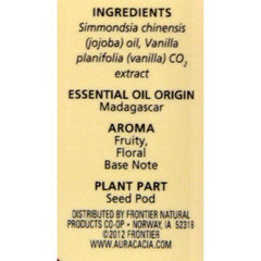 Aura Cacia - Vanilla in Jojoba Oil - 0.5 fl oz