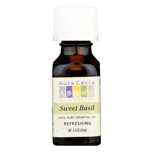 Aura Cacia - Pure Essential Oil Sweet Basil - 0.5 fl oz