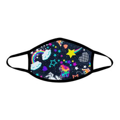 Girl Crush Neon Uv Face Mask With Black Trim