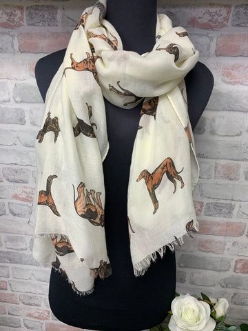 Dog Print Pattern Scarf Spring Summer Collection