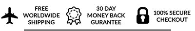 Free shipping, 30 day money back guarantee and secure checkout