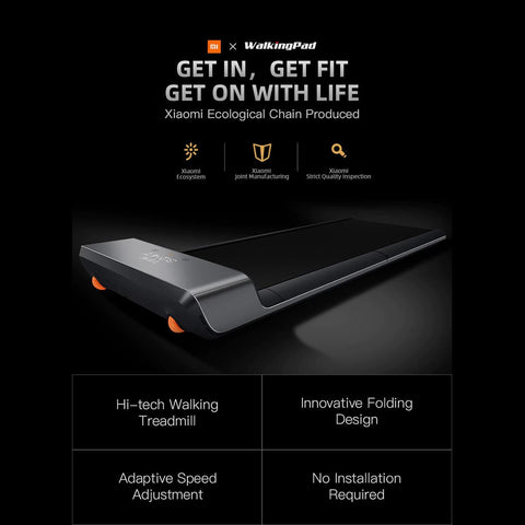 Picture of our foldable, high-tech walking treadmill
