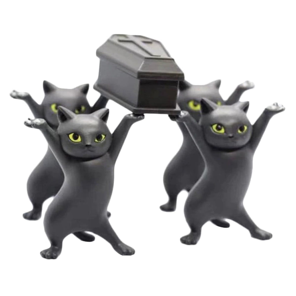 Dancing Pallbearer Cats and Pen Holders