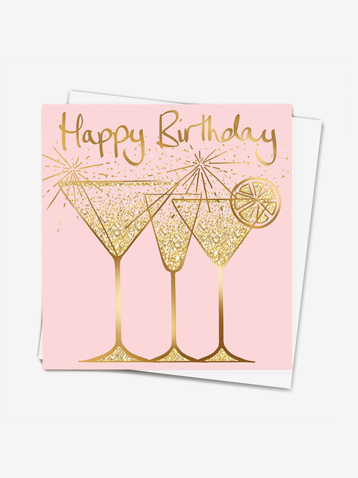 Lucilla Lavender Birthday Cocktails Glitter Card Iris Fashion