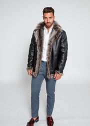 Men's Jayden Shearling Faux Fur Leather Jacket - FADCLOSET AU