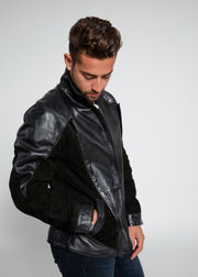 Men's Liam Dual Panel Leather Suede Jacket - FADCLOSET AU