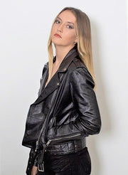 Womens Moto Nappa Leather Jacket - Limited Stock - FADCLOSET AU