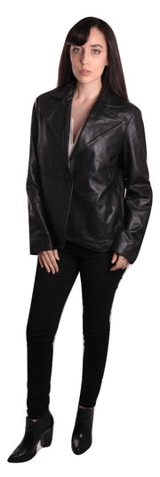 Ella Womens Leather Blazer - FADCLOSET AU
