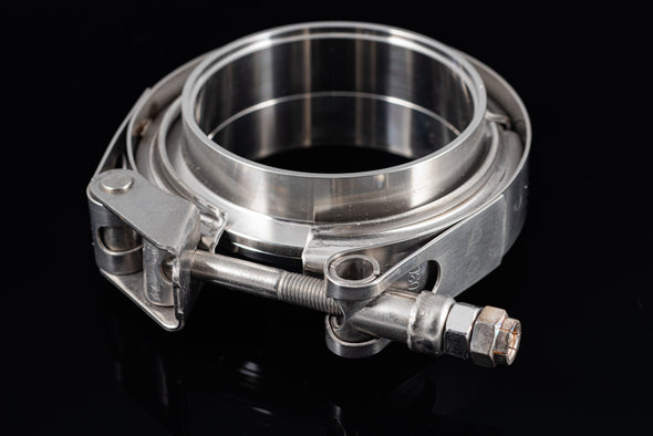 "4.0"" Stainless Steel V-Band Flange Assembly with Clamp - Black Sheep Industries Inc."